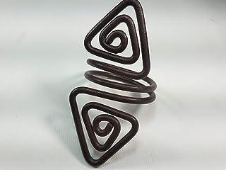 Ronds de serviette,brun antique, l'effet de la rouille.Modele Azimut