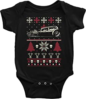 Gearhead Hot Rod Christmas - Sweater Style Onsie Baby Gift T-Shirt - CAR