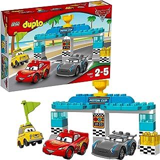 LEGO 10857 DUPLO samochody 3 tłoki wyścig błyskawica McQueen, Jackson Storm i Luigi zbudowane samochody Disney Pixar 3 pos...
