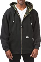 Pro Club Men's Full Zip Reversible Fleece and Thermal Hoodie