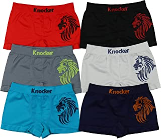ToBeInStyle Boy's Pack of 6 Seamless Soccer Boxer Briefs