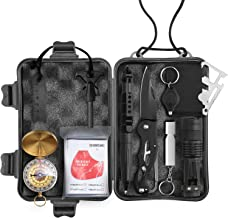 Wild Peak Prepare-1 Survival Tool Kit for Camping Gear, Hiking, Climbing, Fishing, Hunting, Backpacks, Cars (WP-20182812)