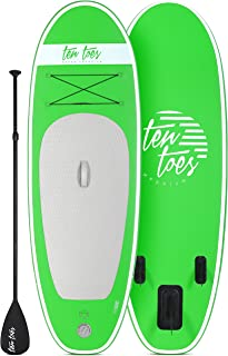 Retrospec Weekender-Nano 8ft. Inflatable Stand Up Paddleboard Triple Layer Military Grade PVC iSUP Bundle w/ paddle board carrying case, aluminum paddle, removable nylon fins, pump & cell phone case