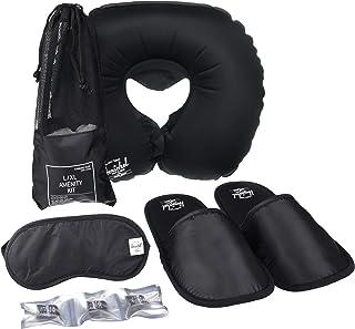 Herschel Slippers, Eyemask & Pillow, Black, Large/X-Large