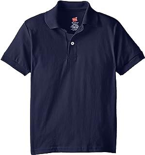 Hanes Big Boys' Short Sleeve Eco Smart Jersey Polo