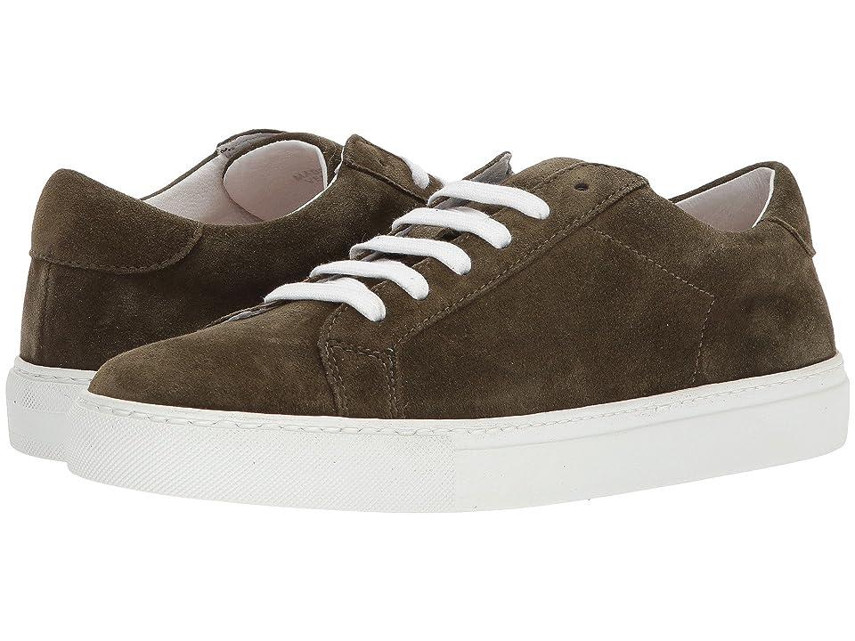 eleventy Suede Sneaker (Green) Men