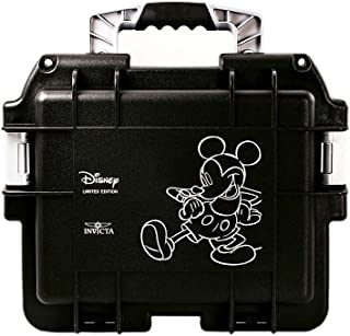 Invicta (3) Three Slot Impact Resistant Black Disney Mickey Dive Storage Collector Case/Watch Box