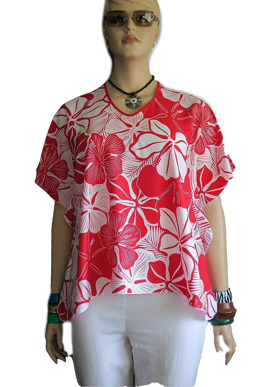 Aloha mart Red - Hawaiian Polynesian Caftan Cover-up El Paso Mall Butterfly Shirt