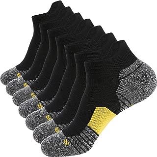 Men's Athletic Running Socks 7 Pairs Thick Quarter Socks Cushion Ankle Socks for Men Sport Low Cut Socks 6-9/10-12