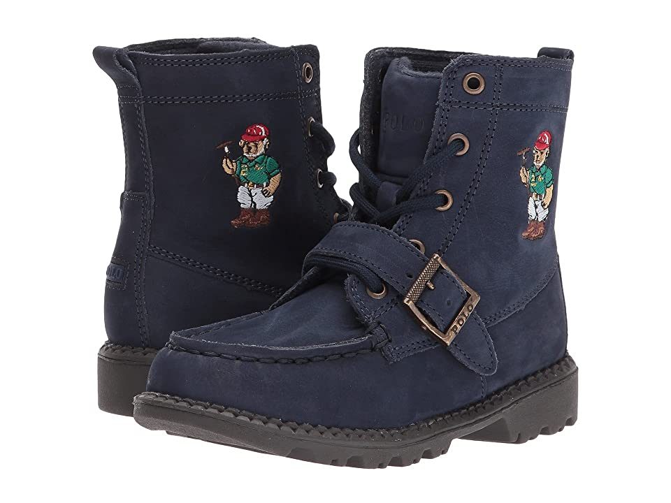 Polo Ralph Lauren Kids Ranger Hi II (Toddler) (Navy Nubuck/Polo Sweater Bear) Boys Shoes