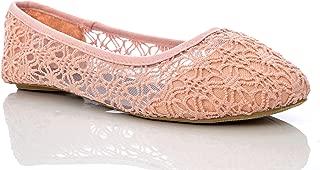 Charles Albert Women's Breathable Crochet Lace Ballet Flat