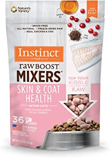 Instinct 6170111 Freeze-Dried Raw Boost Mixers Grain-Free Skin & Coat Health Recipe Cat Food Topper, 5.5oz