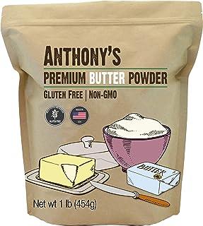 Anthony's Premium Butter Powder, 1 lb, Gluten Free, Non GMO, Made in USA, Keto Friendly, Hormone Free