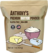 Anthony's Premium Butter Powder, 1lb, Gluten Free, Non GMO, Made in USA, Keto Friendly, Hormone Free