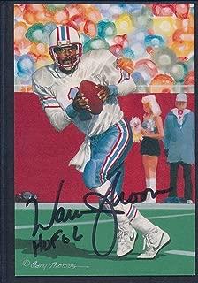 Warren Moon Signed 2006 Goal Line Art Card Autograph Auto AC76084 - PSA/DNA Certified - NFL Autographed Football Cards