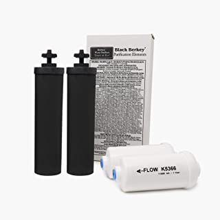 Berkey Black Berkey Purification Elements With Berkey PF-2 Fluoride and Arsenic Reduction Elements - Combo Pack