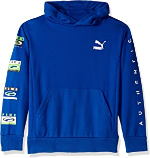 PUMA Boys 91192332FME-P448 Boys' Pullover Hoodie Hooded Sweatshirt - Blue