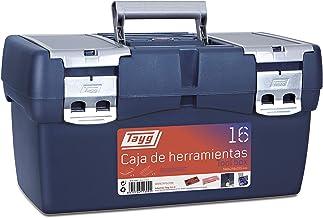 Tayg 16 Caja Herramienta Plástico, Azul/Rojo, 500 x 258 x 255 mm