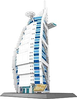 The Burj AL Arab Hotel of Dubai Building Blocks 1307 pcs Huge Gift Box !!! World's Great Architecture Series