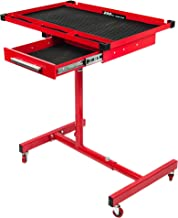 RTJ 200 lbs Capacity Adjustable Work Table with Drawer Rolling Tool Tray with Wheels