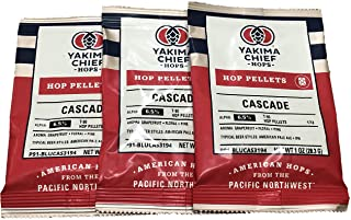 Learn To Brew LLC-BC-89Z0-55HN Cascade Hop Pellets for Home Brewing 1 oz , (Packaging may Vary) (Pack of 3), Green