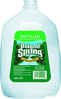 POLAND SPRING, Distilled Water, 1-gallon plastic jug