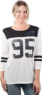 Ultra Game NFL Women's Vintage 3/4 Long Sleeve Tee Shirt
