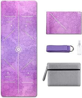 DPOY Travel Yoga Mat-Foldable 1/25 Inch Thin 1.7 LBS Lightweight Hot Yoga Mat&Towel,Sweat Absorbent Anti Slip, Exercise an...