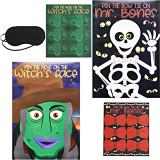 Blue Panda Pin The Tail Halloween Party Games (2 Pack), 2 Designs