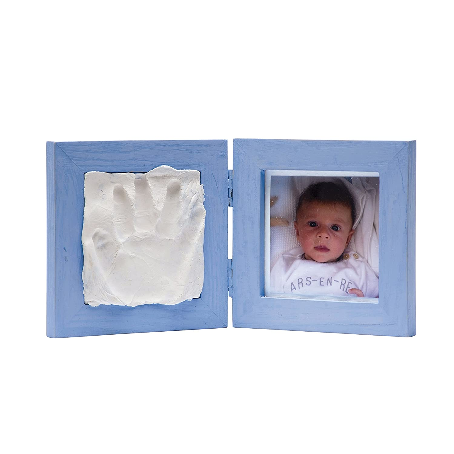 Artemio 13040001 Photo & Imprint Baby Frame, Wooden Frame-12.5cmx 12.5cm x 1.2Cm