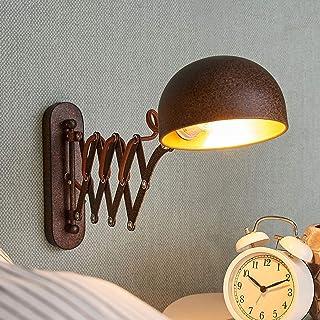 Lámpara de pared 'Curtis' (Retro, Vintage) en Marrón hecho de Metal e.o. para Salón & Comedor (1 llama, E14, A++) de LINDBY | aplique