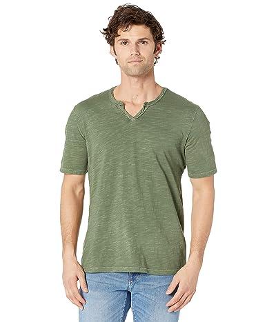 Mod-o-doc Topanga Short Sleeve Notch V-Neck Tee (Olive Bamboo) Men