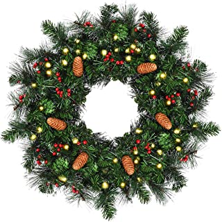 Best wreath with lights Reviews