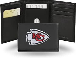 NFL Kansas City Chiefs Embroidered Leather Trifold Wallet