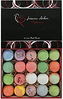 20 HUGE Joanne Arden Organics USA Vegan Bath Bombs Kit. Gifts For Women, Mom, Girls, Teens, Her - Ultra Lush Spa Fizzies - Best Gift Ideas, Premium Lush Bath Bombs Gift Set for Men Women & Kids!
