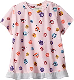 Fendi Kids Short Sleeve Fur Monster Print T-Shirt (Infant)