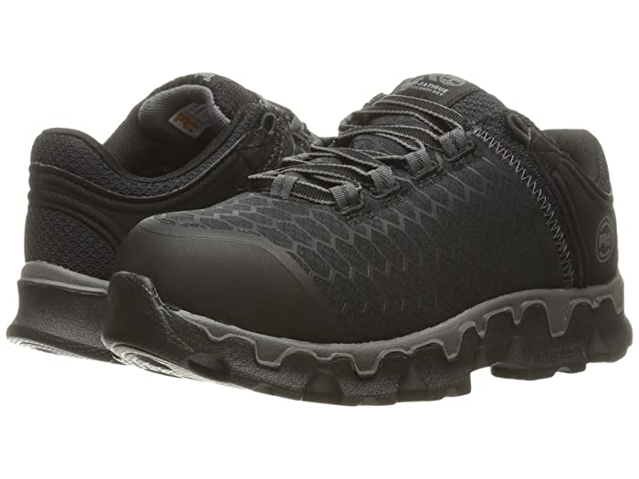 Timberland PRO  Powertrain Sport Alloy Toe SD+ (Black Synthetic) Womens Work Lace-up Boots