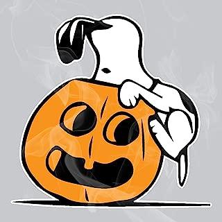 Enigma Design Company Peanuts Snoopy Peeking in Pumpkin Halloween Static Cling Decal