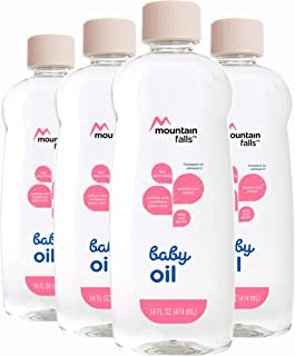 Mountain Falls Baby Oil, Original, 14 Fluid Ounce (Pack of 4)