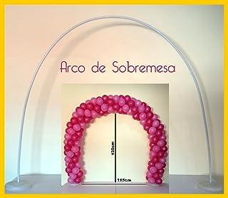 FIESTADEKOR Estructura para Arco DE Globos SOBREMESA Reutilizable DE 3,45 Metros MOLDEABLE con Bases RELLENABLES (Globos NO INCLUIDOS) (VACIO)