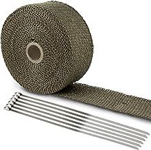 LIHAO Hitzeschutzband Basaltfaser Auspuffband 10M mit Kabelbinder für Fächerkrümmer..