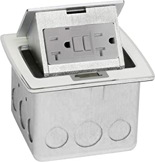 Lew Electric PUFP-CT-OW Countertop Box, Pop Up w/20A GFI Receptacle - Off White