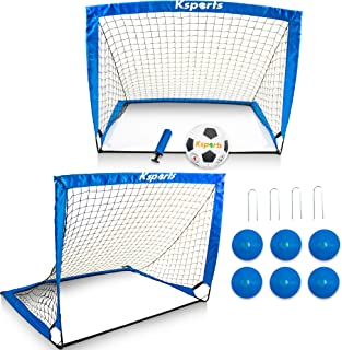 Ksports Soccer Net Bundle 4ft Blue-Easy Setup Indoors &...