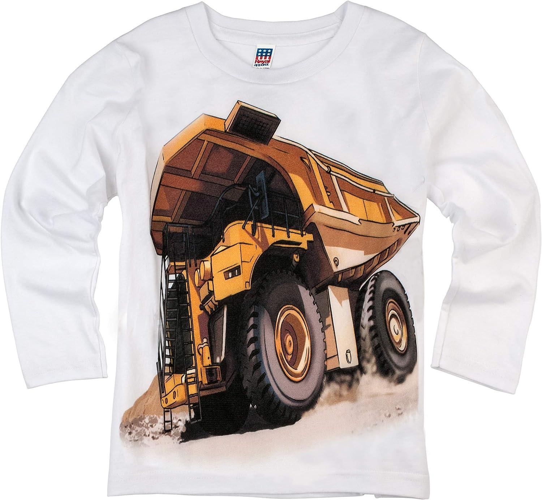Shirts That Go Little Boys' Long Sleeve Dump Truck T-Shirt