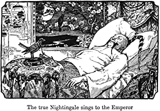 Andersen The Nightingale NThe True Nightingale Sings To The Emperor Drawing By Henry J Ford For An 1894 Edition Of The Fairy Tale The Nightingale By Hans Christian Andersen Poster Print by (24 x 36)