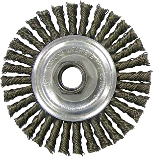 Weiler+Wire+Wheel+4+%22+Narrow+Face%2c+Stringer+Bead+Knot+20000+Rpm+Coarse+5%2f8+%22+-11+Arbor