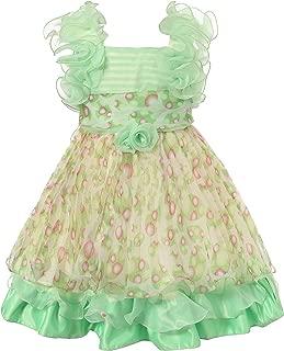 Áo quần dành cho bé gái – Girls' Chiffon Dress with Ruffles Size 2-6 Rh1446