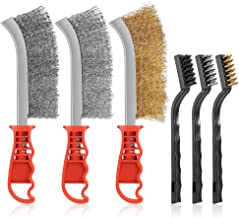 Handdraadborstelset, 6-delig, kunststof handgrepen, reinigingsborstel