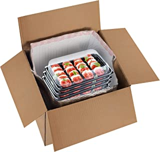 Thermal Box Liners 6x6x6 Metalized Box Liners 6 x 6 x 6 by Amiff. Pack of 5 Insulated Box Liners. Food Grade. Gusseted Bottom. Adhesive Strip. Mailing, Shipping, Packing, Packaging, Moving.