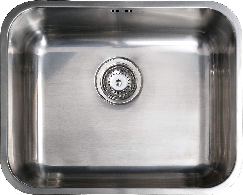 Cata 02625300 bajo encimera | Modelo CB 50-40 | Fregadero Cocina un Seno | Acero Inoxidable | Instalación en Mueble de 60cm, CB-40-50